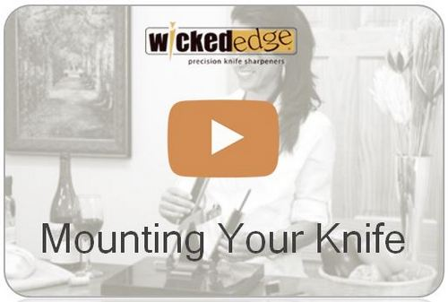 Wicked Edge Video Mounting your knife in the Wicked Edge