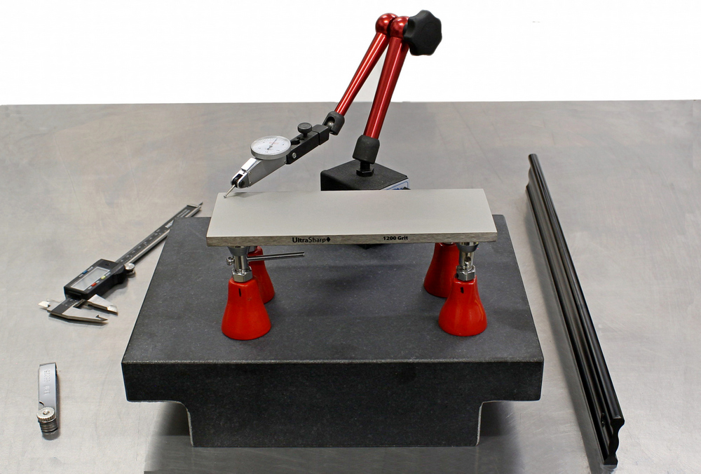 sharpening stone flatness testing dial